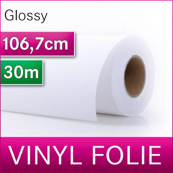 Solvent Vinyl SA | Vinylfolie Glossy | 106,7m x 30m