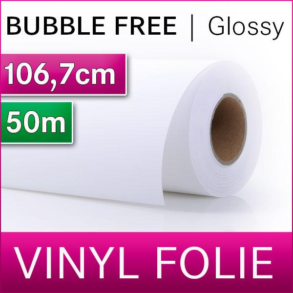 Solvent Bubble Free Vinyl SA | Vinylfolie Glossy | 106,7m x 50m