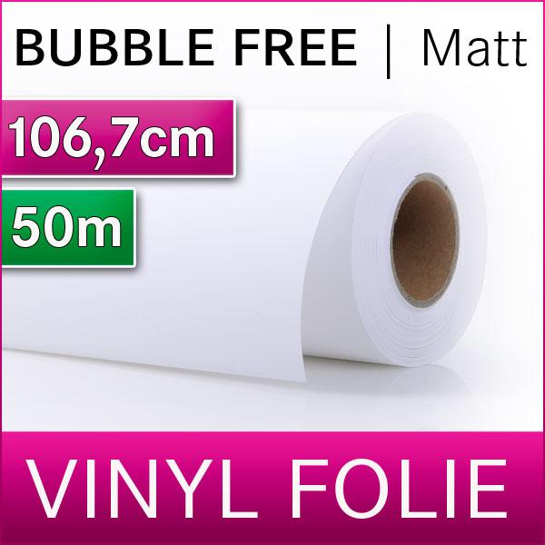 Solvent Bubble Free Vinyl SA | Vinylfolie Matt | 106,7m x 50m