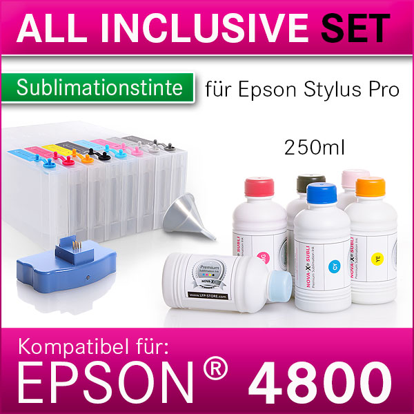 All Inclusive Set | 250ml | NOVA-X® SUBLI für Epson® StylusPro 4800