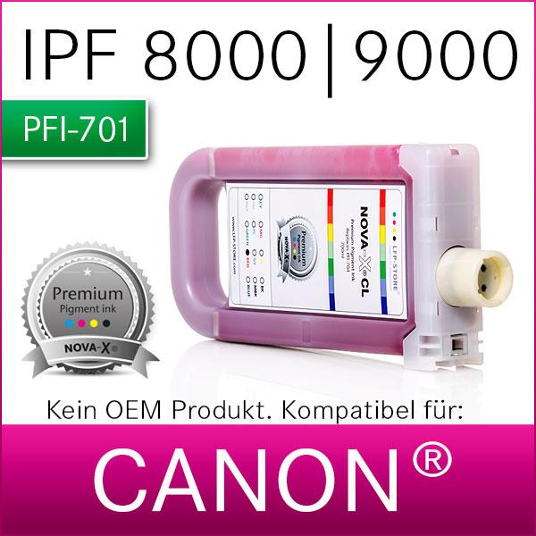 PFI-701   NOVA-X® CL Pigmenttinte kompatibel Canon® IPF 8000  9000  8000s  9000s