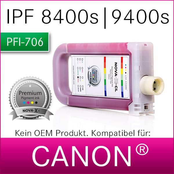 PFI-706 | NOVA-X® CL Pigmenttinte kompatibel für Canon® IPF 8400/s | 9400/s