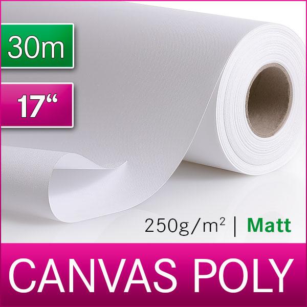 1 Rolle Inkjet Canvas | Leinwand | Polyester | 250 M | 43,2 cm x 30m