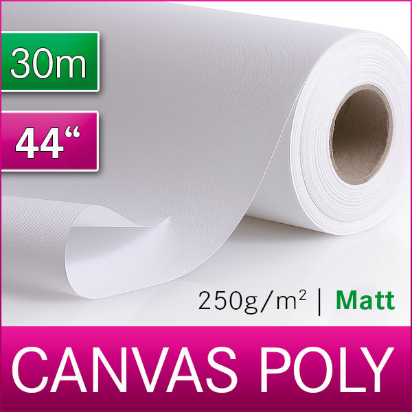 1 Rolle Inkjet Canvas | Leinwand | Polyester | 250 M | 111,8 cm x 30m