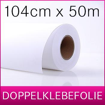 1 Rolle Doppelklebefolie | Kaschierfilm  | 104 cm x 50 m