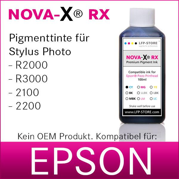 100ml NOVA-X® RX Pigmenttinte kompatibel Epson Stylus Photo