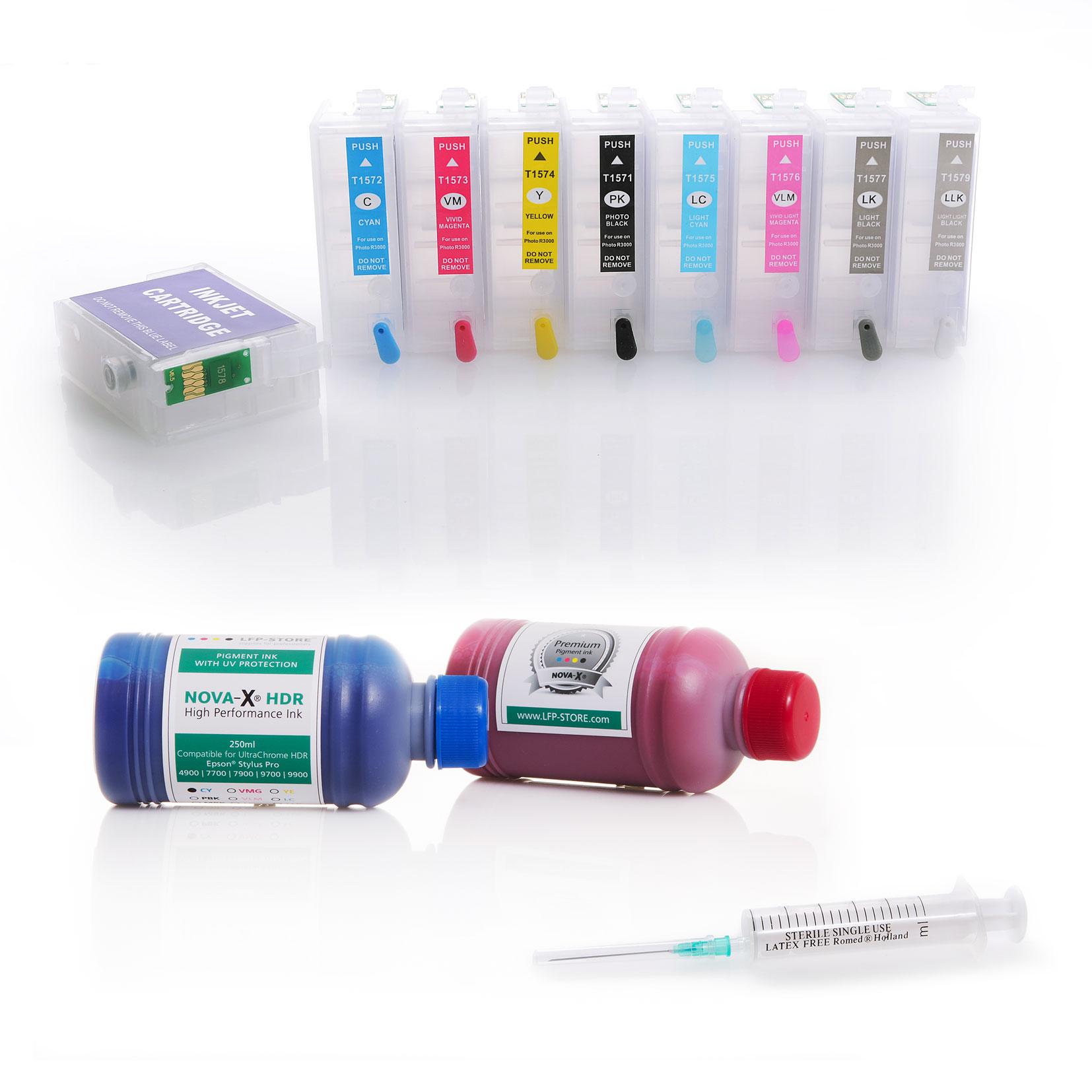 Starterset 9x 250ml | für Epson® SureColor SC-P600 | NOVA-X® HDR