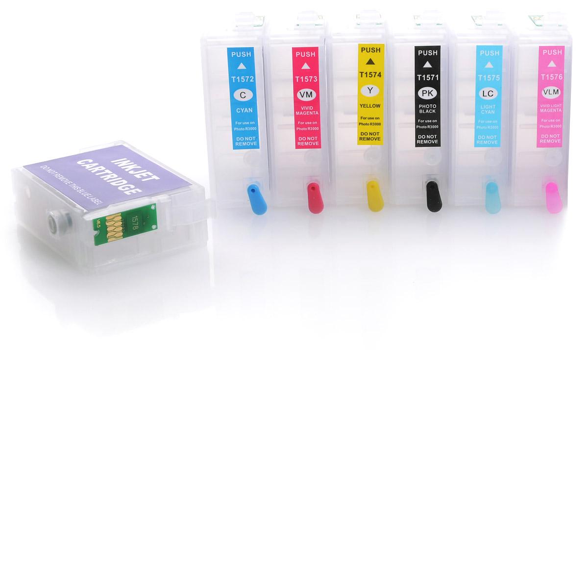 7x Refill Kartuschen für Epson Stylus Photo 2100 | kompatibel