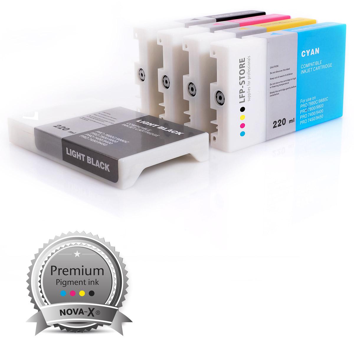 8x Tintenpatronen 220ml NOVA-X® K3V kompatibel zu Epson® Stylus Pro 7880 | 9880