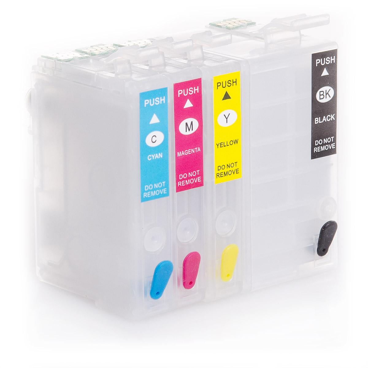4x Refill Kartuschen für Epson Workforce WF-7110 | kompatibel