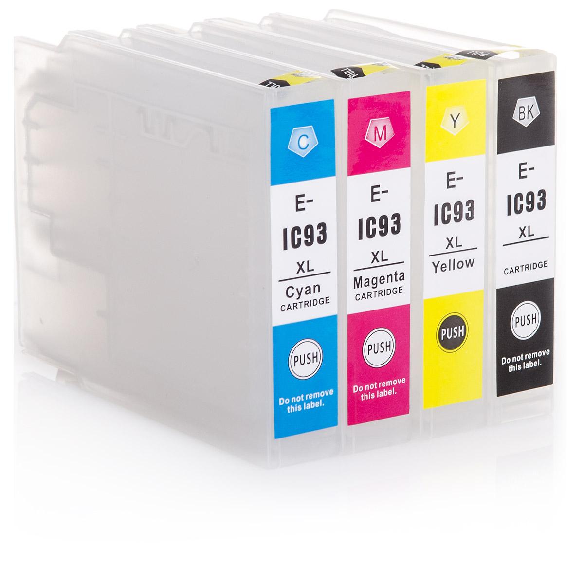 4x Kartuschen für Epson Workforce WF-8090, 8590, 8010, 8510 | kompatibel