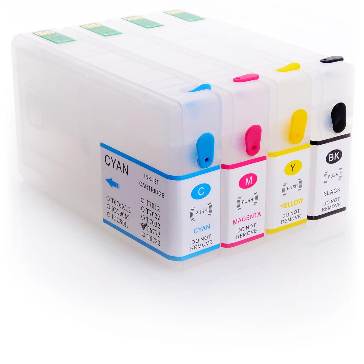 4x Refill Kartuschen für Epson Workforce Pro WP-4015 DN | kompatibel