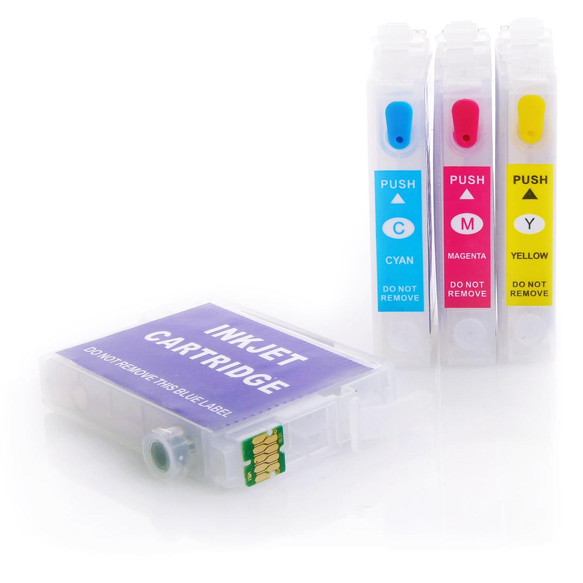 4x Refill Kartuschen für Epson Workforce WF-2010 W | kompatibel