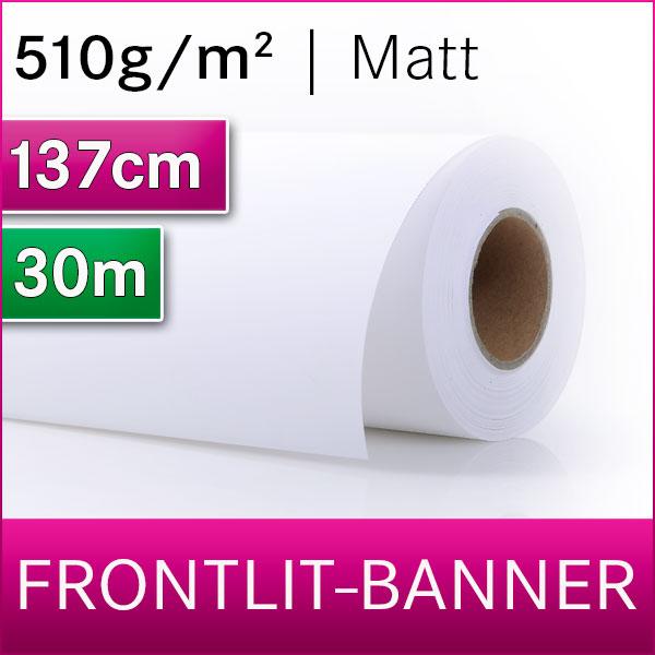 Frontlit-Gewebebanner   matt   1,37m x 30m   Production Banner
