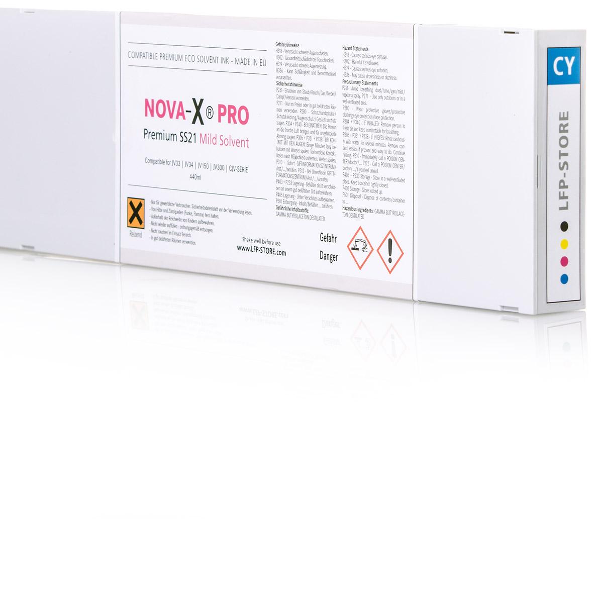 NOVA-X® PRO SS21 Tintenpatrone | für Mimaki® JV33 | JV34 | JV150 | JV300 | CJV