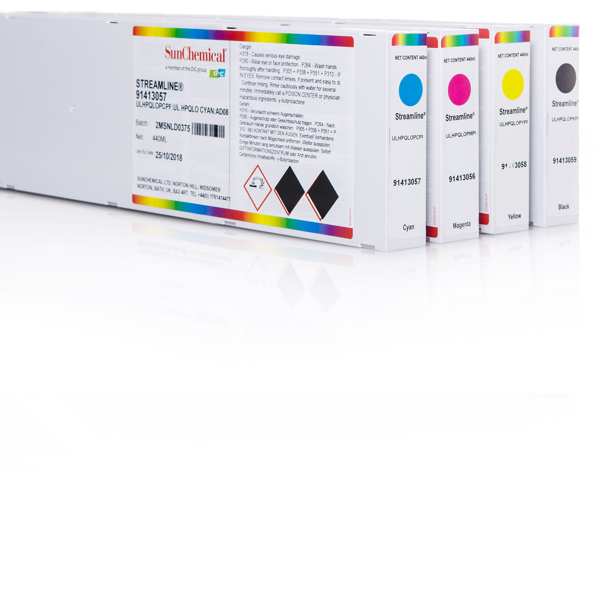 4x Tintenpatrone für Roland® | Streamline® ESL HPQLO | 440ml
