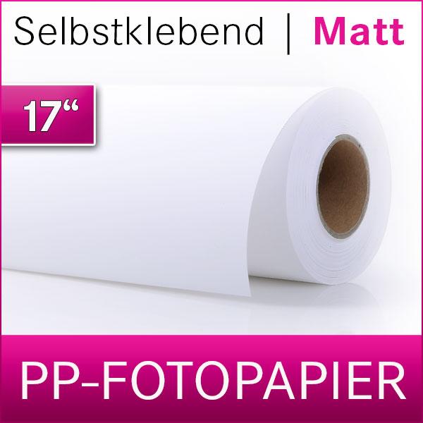 PP-Fotopapier | Vinyl | selbstklebend | matt | 43,2cm x 30m