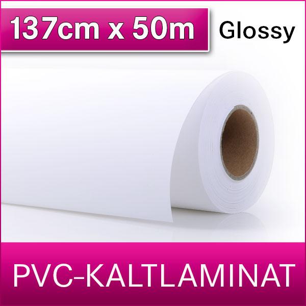 1 Rolle | PVC Kaltlaminat | Glossy | 137 cm x 50 m
