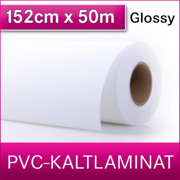 1 Rolle | PVC Kaltlaminat | Glossy | 152 cm x 50 m