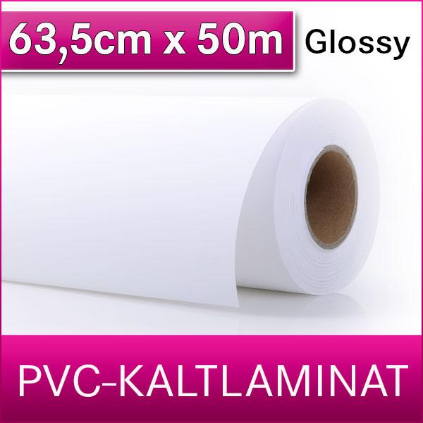 1 Rolle | PVC Kaltlaminat | Glossy | 64 cm x 50 m