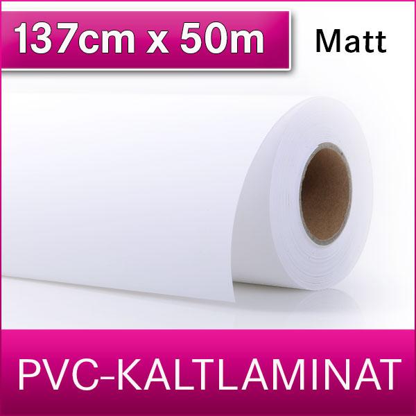 1 Rolle | PVC Kaltlaminat | Matt | 137 cm x 50 m