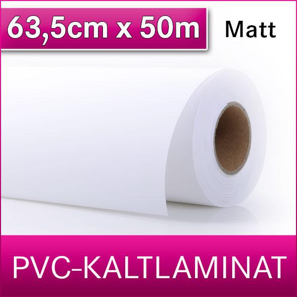 1 Rolle | PVC Kaltlaminat | Matt | 63,5 cm x 50 m
