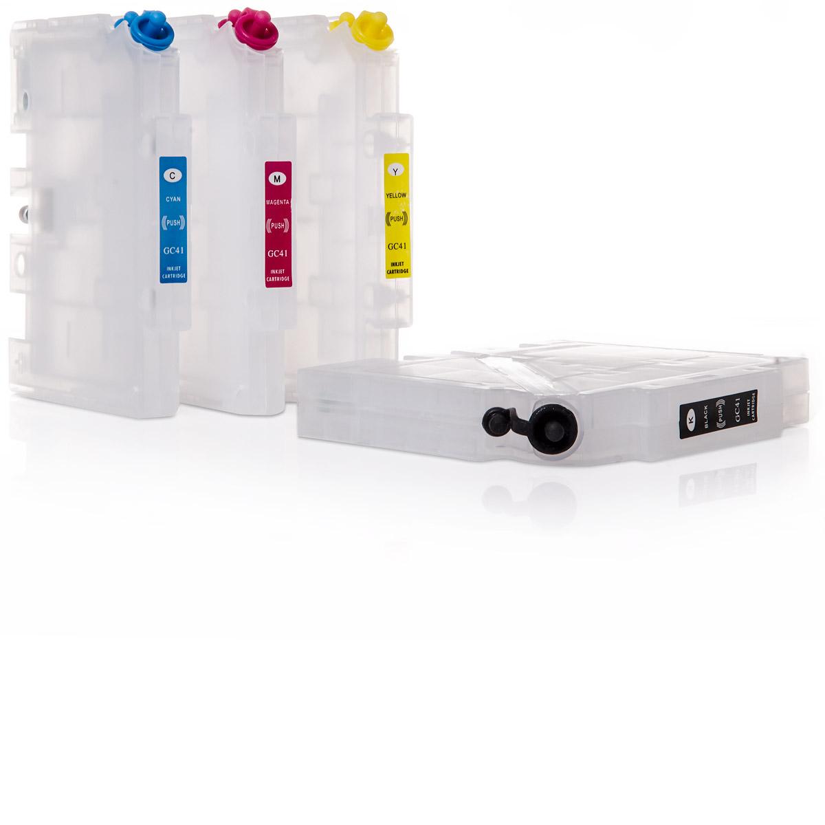 4x Ricoh® Geldrucker GC-31 kompatible Refill-Patronen mit Auto-Reset-Chip