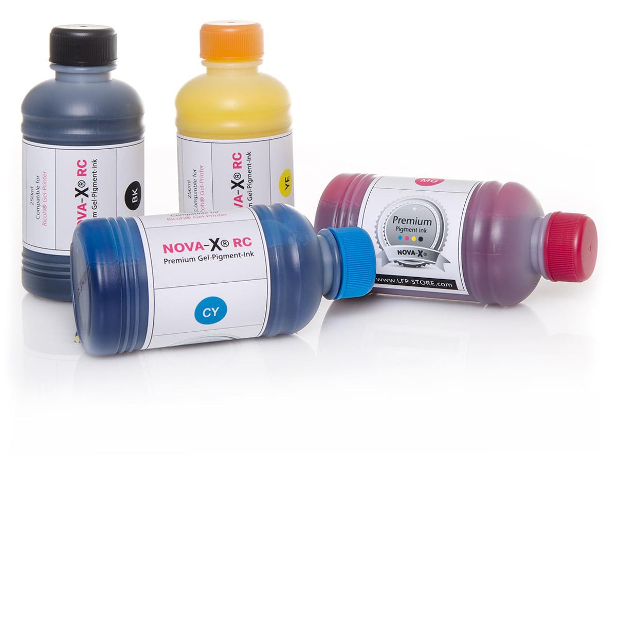 250ml | NOVA-X® RC | Pigmenttinte für Ricoh® GelJet Drucker