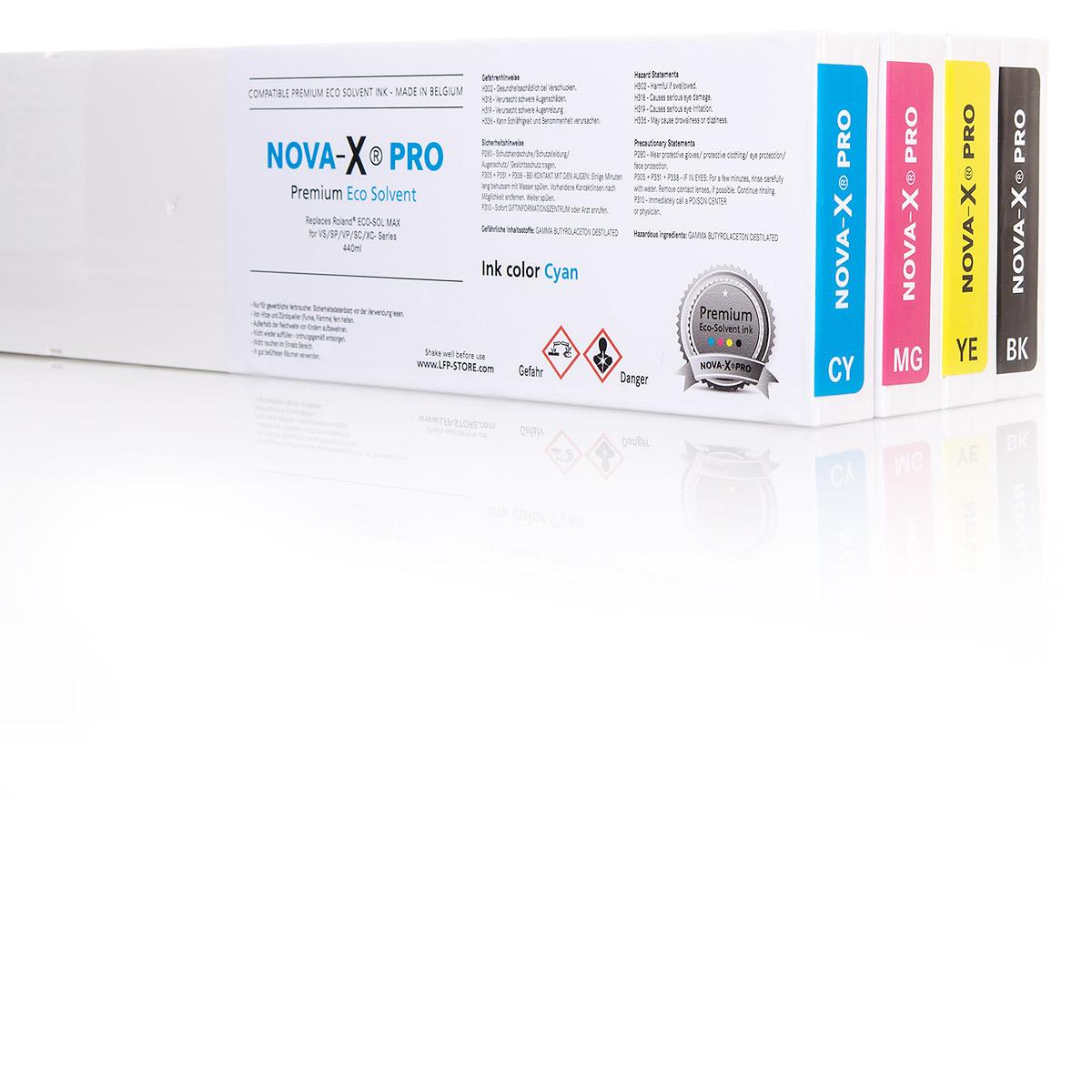 4x NOVA-X® PRO SS21 Tintenpatrone | für Mimaki® JV33 | JV34 | JV150 | JV300 |CJV