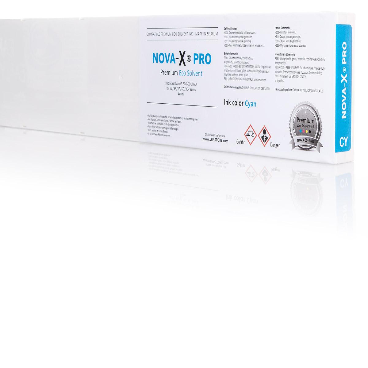NOVA-X® PRO Tintenpatrone Eco-Solvent für Roland® | 440ml | OEM Farbanpassung