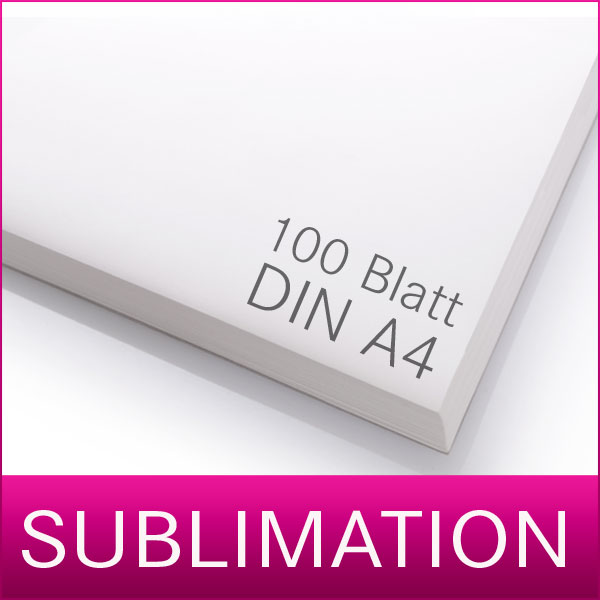 Sublimationspapier | Transferpapier für Sublimation | 100 Blatt | A4