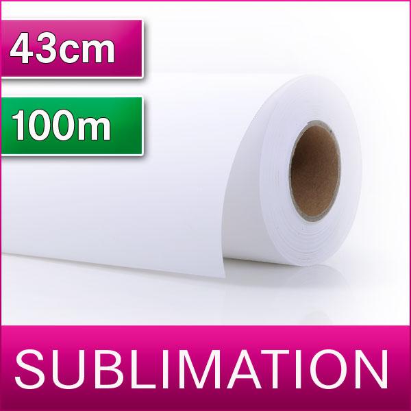 1 Rolle Sublimationspapier | Transferpapier für Sublimation | 43 cm x 100m