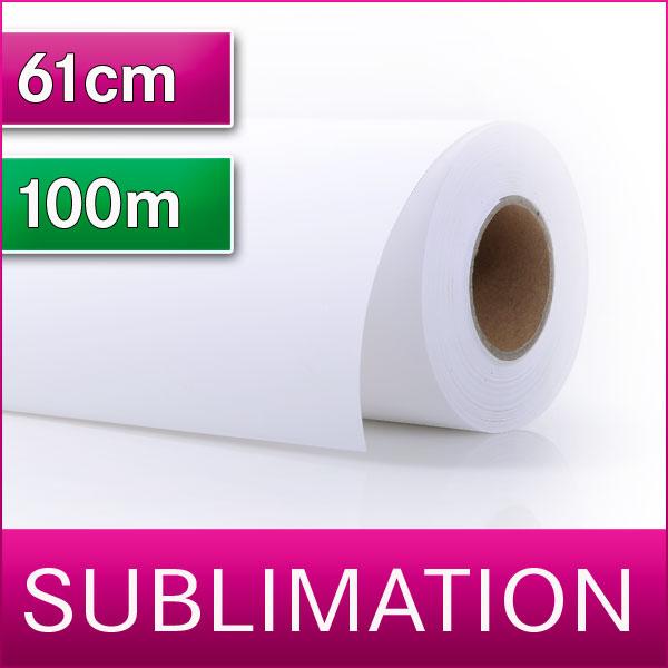 1 Rolle Sublimationspapier | Transferpapier für Sublimation | 61 cm x 100m