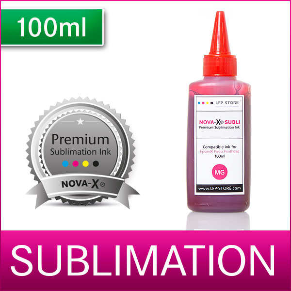 100ml | NOVA-X® SUBLI | Sublimationstinte für Transferdruck | T-Shirt | Keramik