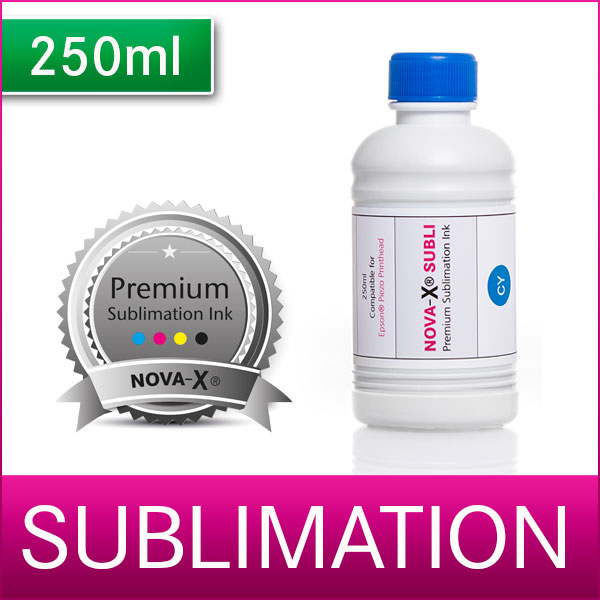 250ml | NOVA-X® SUBLI | Sublimationstinte für Transferdruck | T-Shirt | Keramik